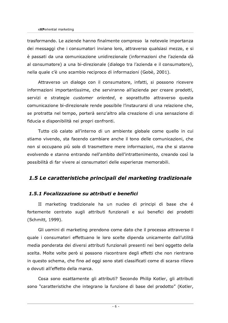Anteprima della tesi: Experiential marketing. Un'esperienza nel settore dell'arredamento., Pagina 4