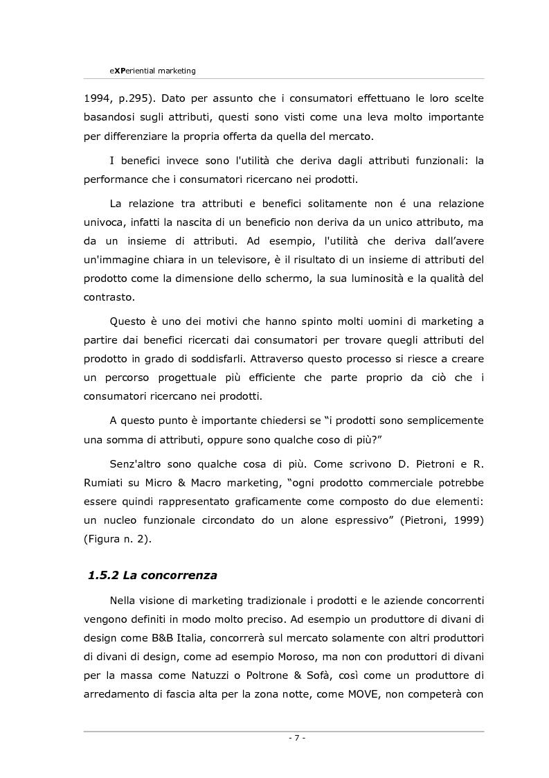 Anteprima della tesi: Experiential marketing. Un'esperienza nel settore dell'arredamento., Pagina 5