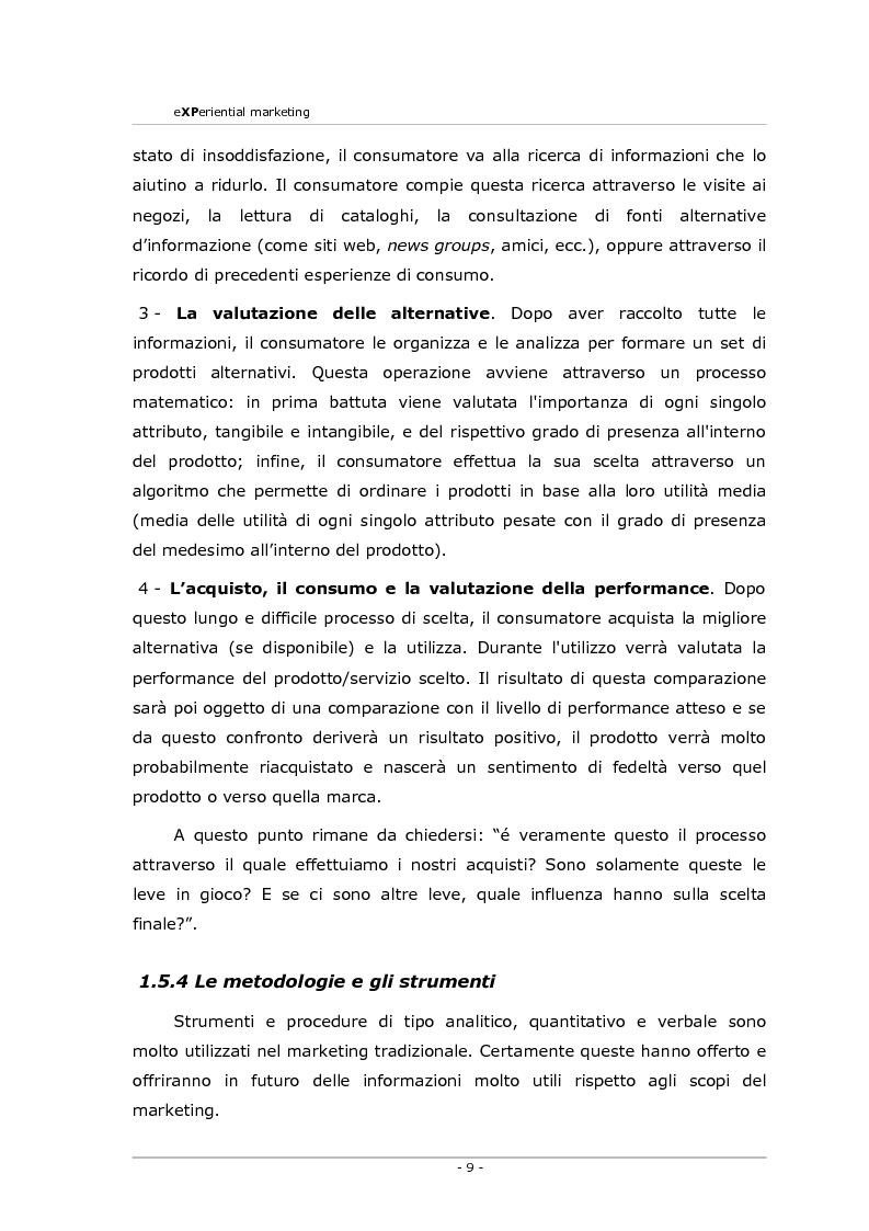 Anteprima della tesi: Experiential marketing. Un'esperienza nel settore dell'arredamento., Pagina 7