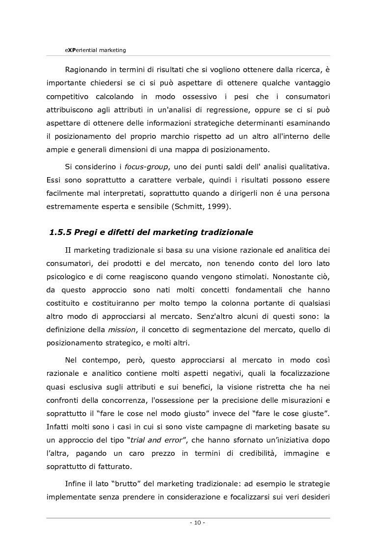 Anteprima della tesi: Experiential marketing. Un'esperienza nel settore dell'arredamento., Pagina 8