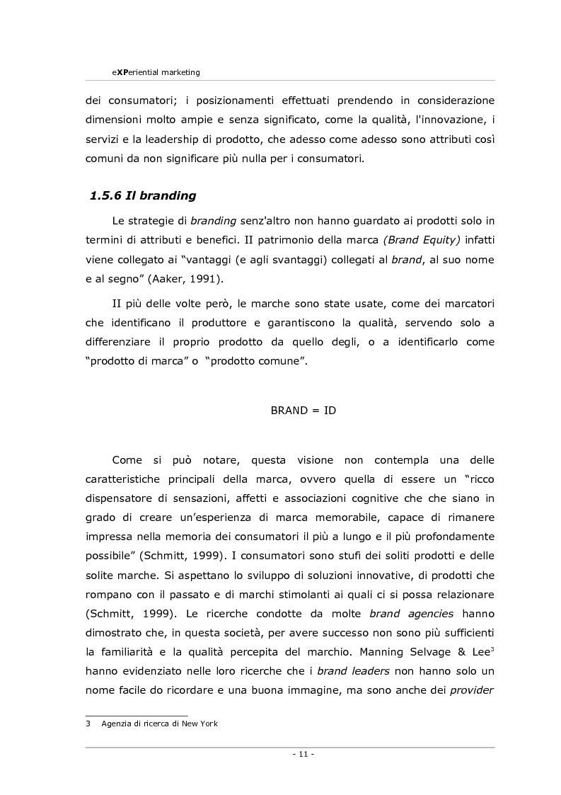 Anteprima della tesi: Experiential marketing. Un'esperienza nel settore dell'arredamento., Pagina 9