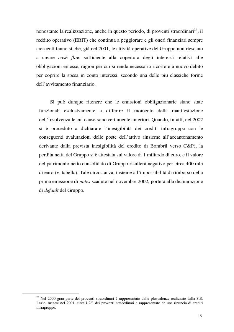 Anteprima della tesi: L'insolvenza del gruppo Cirio: profili giuridici, Pagina 13