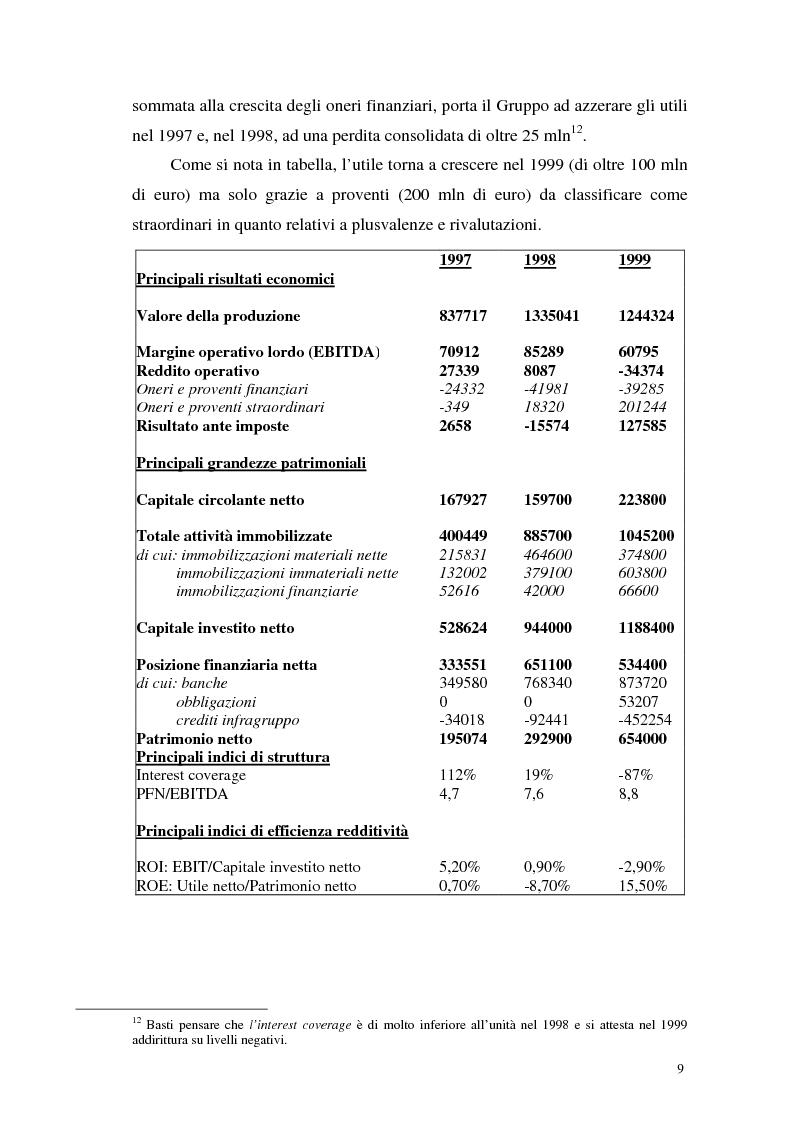 Anteprima della tesi: L'insolvenza del gruppo Cirio: profili giuridici, Pagina 7