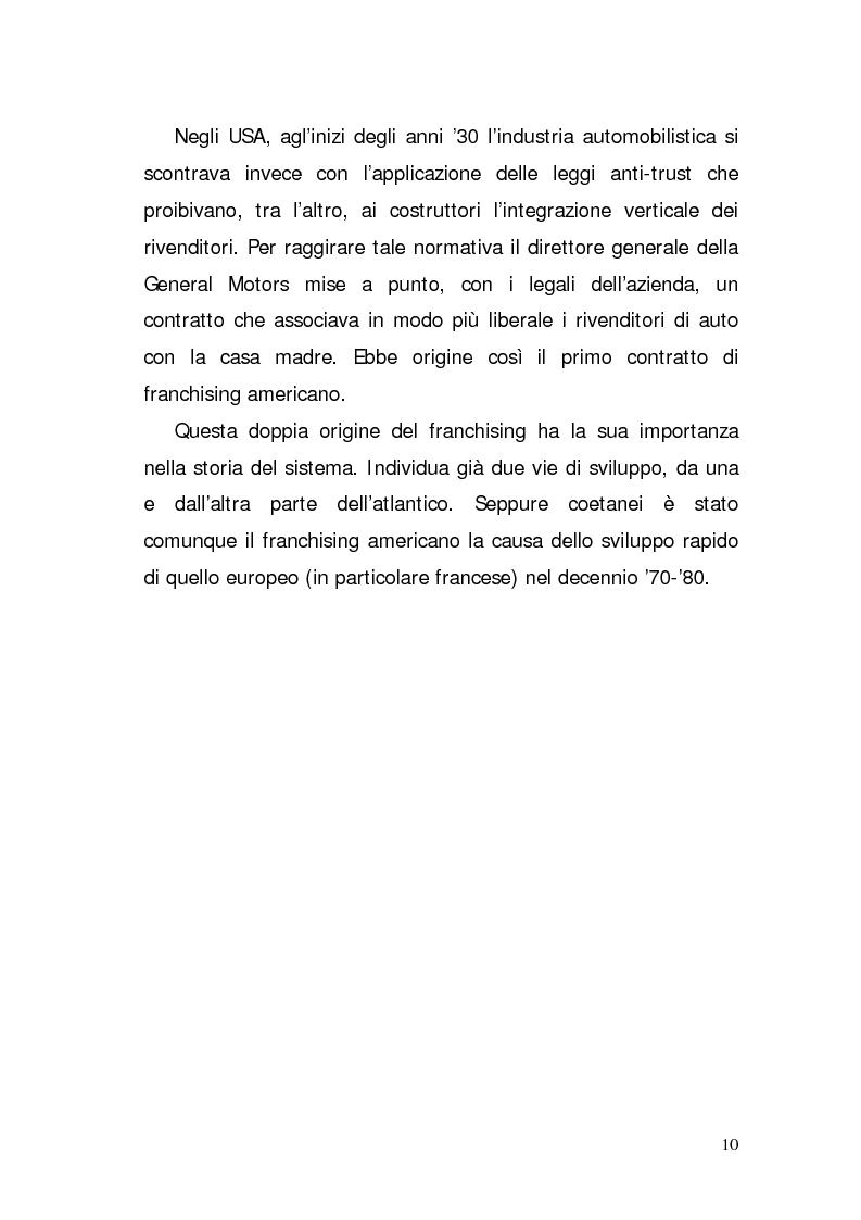 Anteprima della tesi: Verifica di fattibilità di un progetto industriale in franchising. Il caso aziendale CIR.COM Franchises S.p.A., Pagina 10