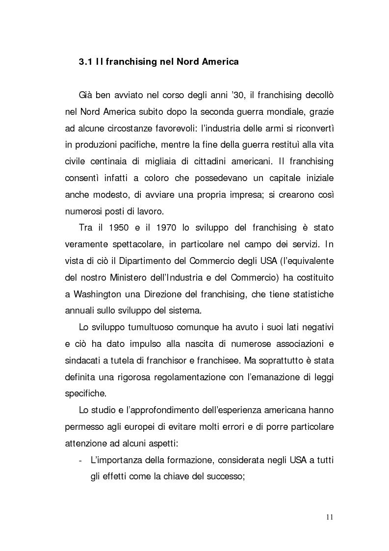 Anteprima della tesi: Verifica di fattibilità di un progetto industriale in franchising. Il caso aziendale CIR.COM Franchises S.p.A., Pagina 11