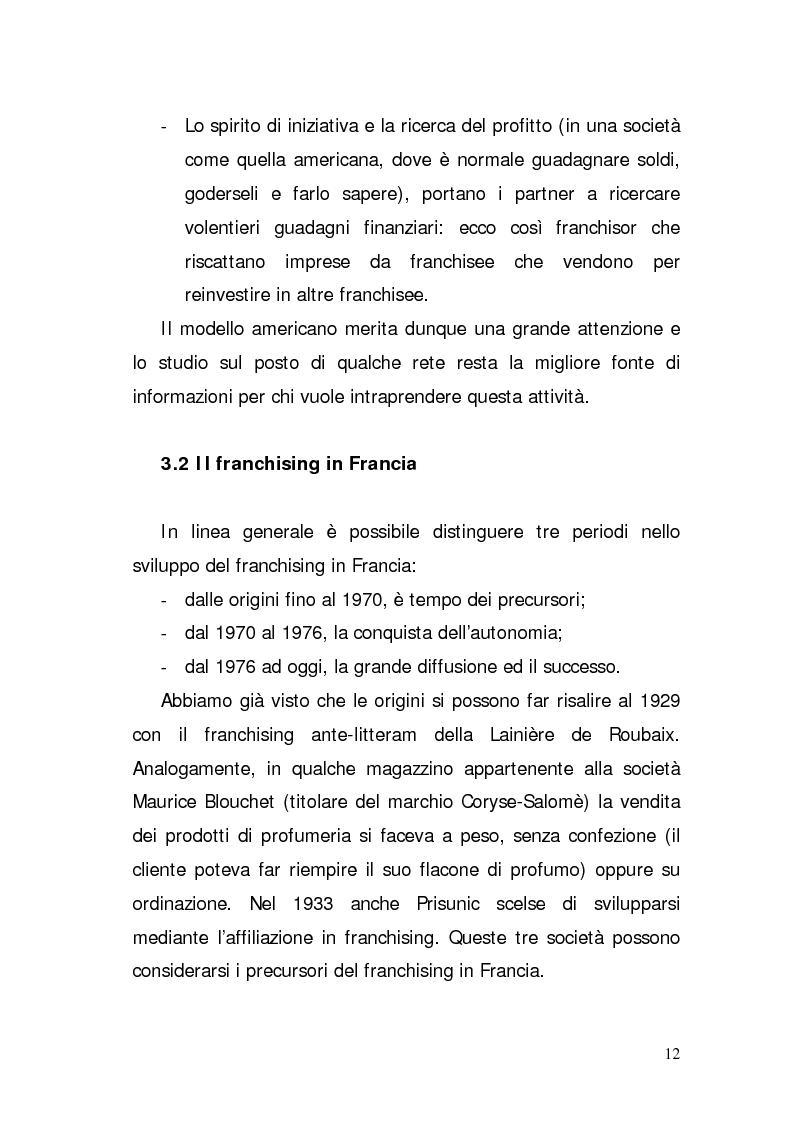 Anteprima della tesi: Verifica di fattibilità di un progetto industriale in franchising. Il caso aziendale CIR.COM Franchises S.p.A., Pagina 12
