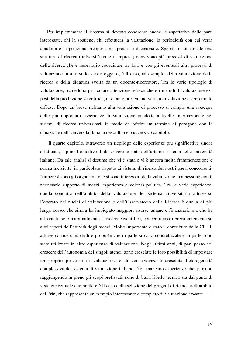 Anteprima della tesi: La valutazione della ricerca scientifica, Pagina 4