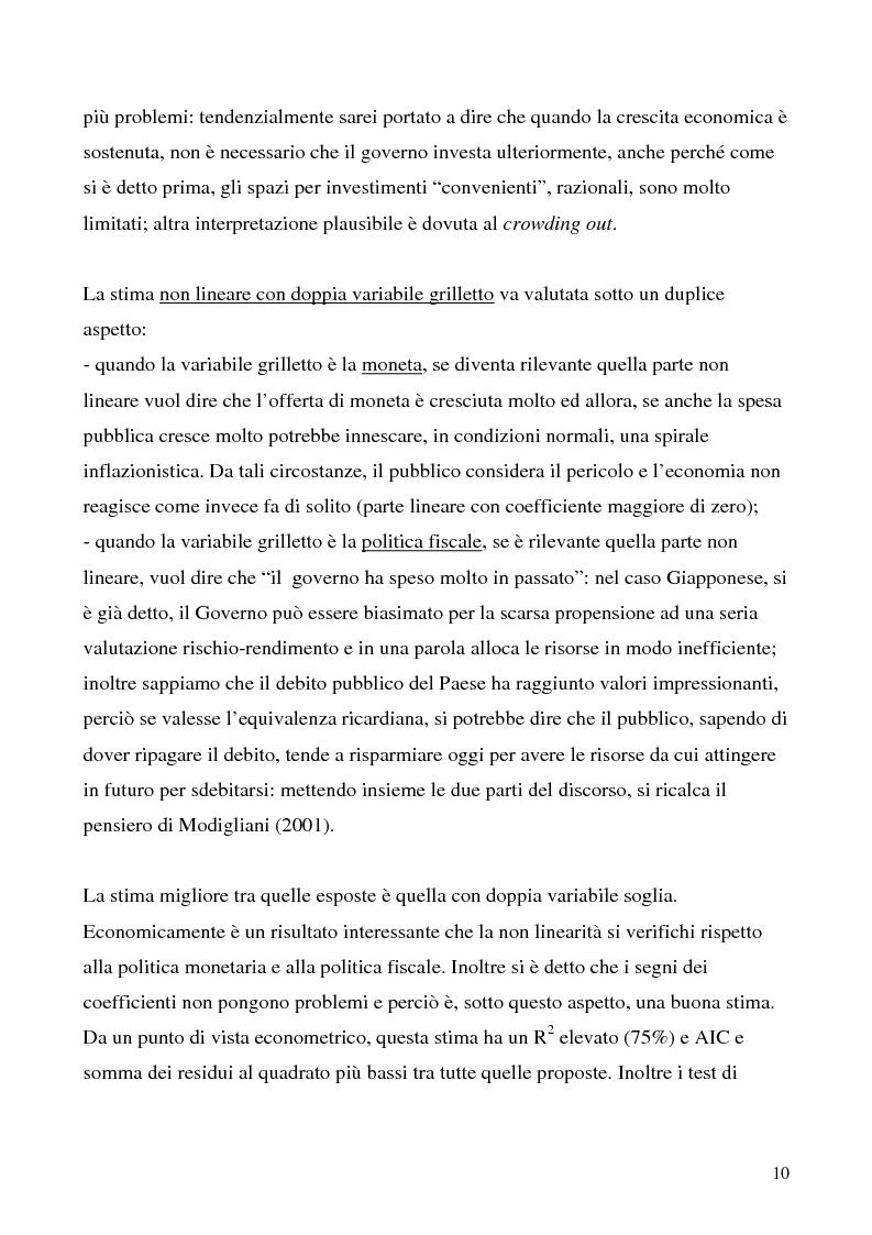 Anteprima della tesi: Le politiche economiche giapponesi negli ultimi trent'anni: un'analisi econometrica, Pagina 10