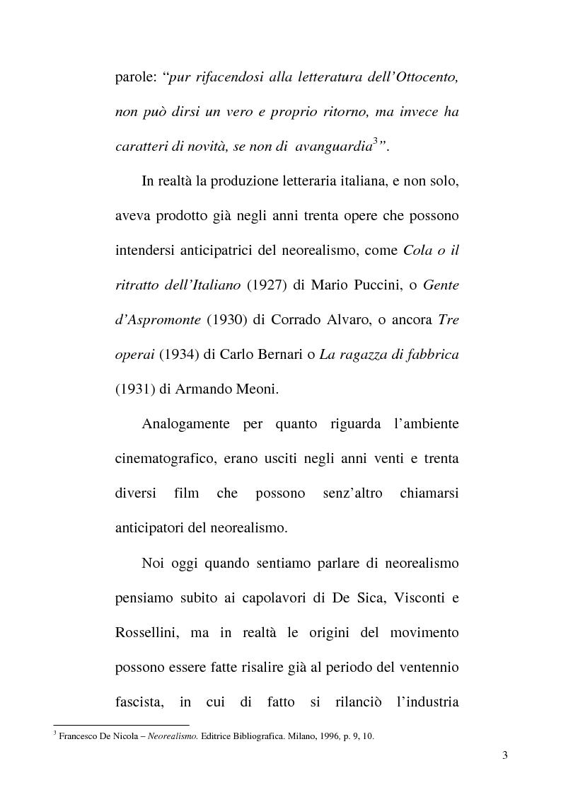 Anteprima della tesi: Linguaggio e realtà nel neorealismo cinematografico italiano, Pagina 2
