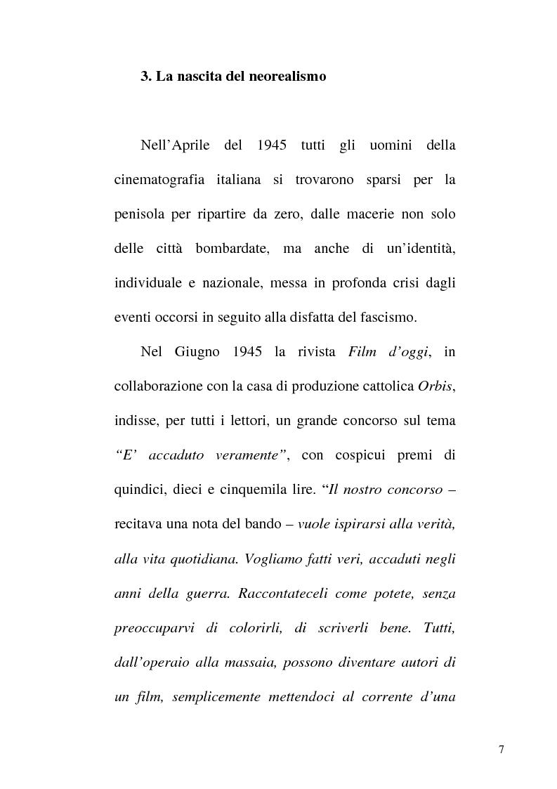 Anteprima della tesi: Linguaggio e realtà nel neorealismo cinematografico italiano, Pagina 6