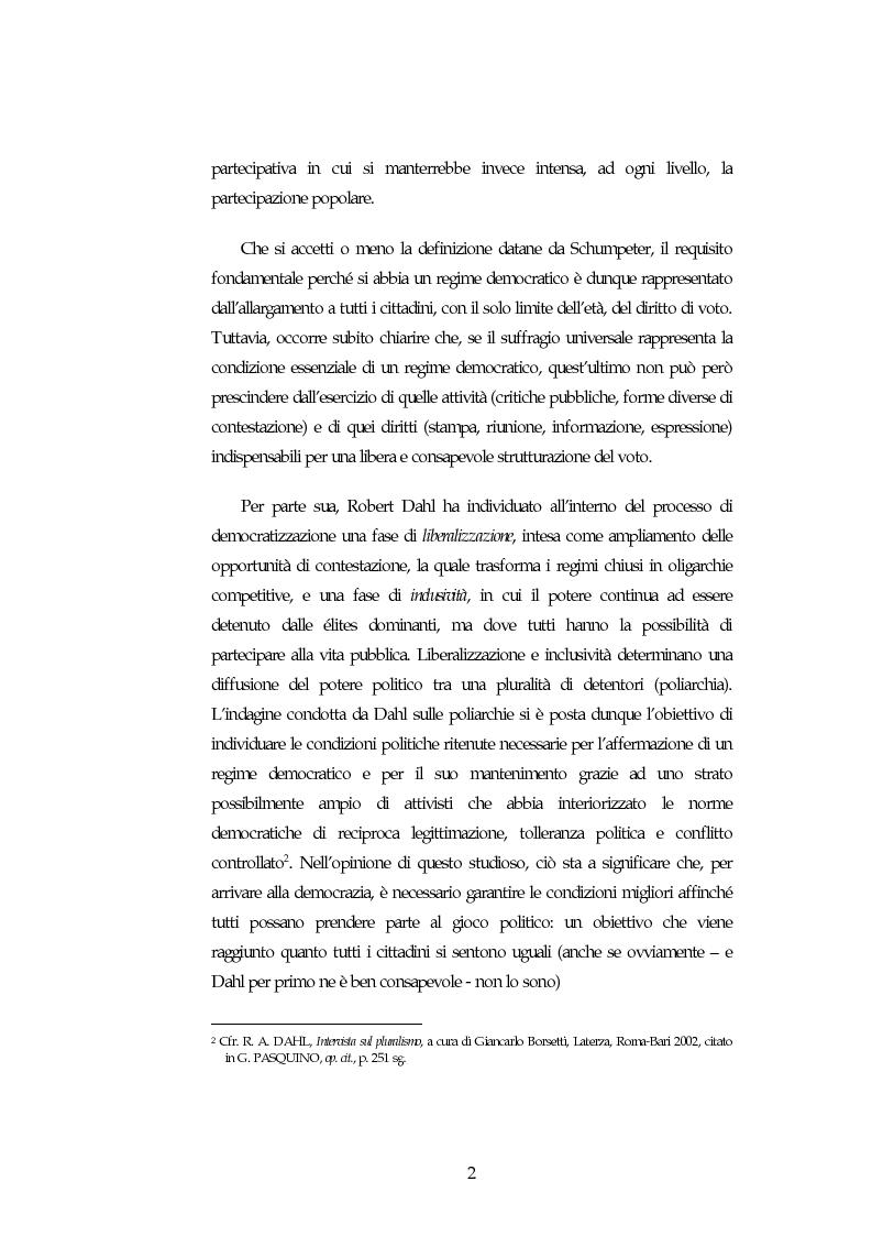Anteprima della tesi: Possibilita' ed autonomia della democrazia nei paesi islamici, Pagina 2