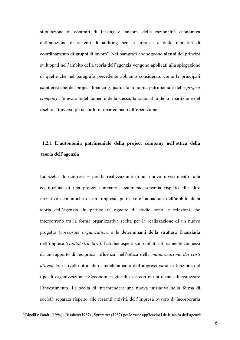 Anteprima della tesi: Il project financing nel settore delle utilities, Pagina 11