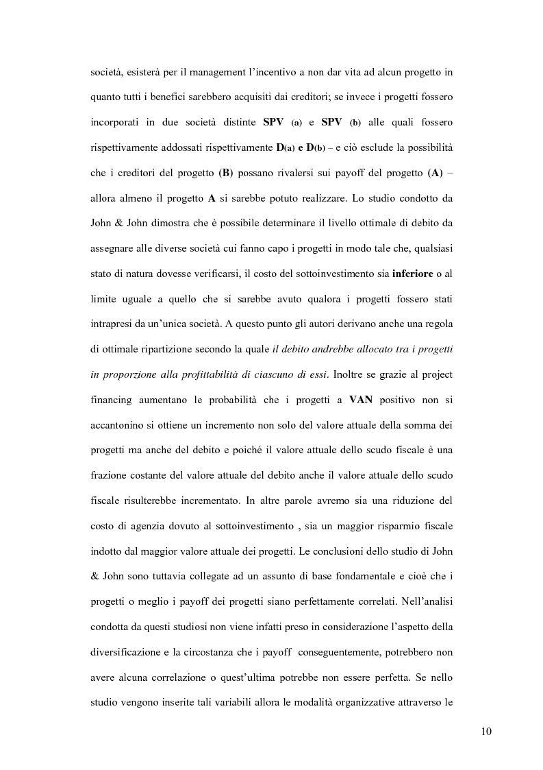 Anteprima della tesi: Il project financing nel settore delle utilities, Pagina 15