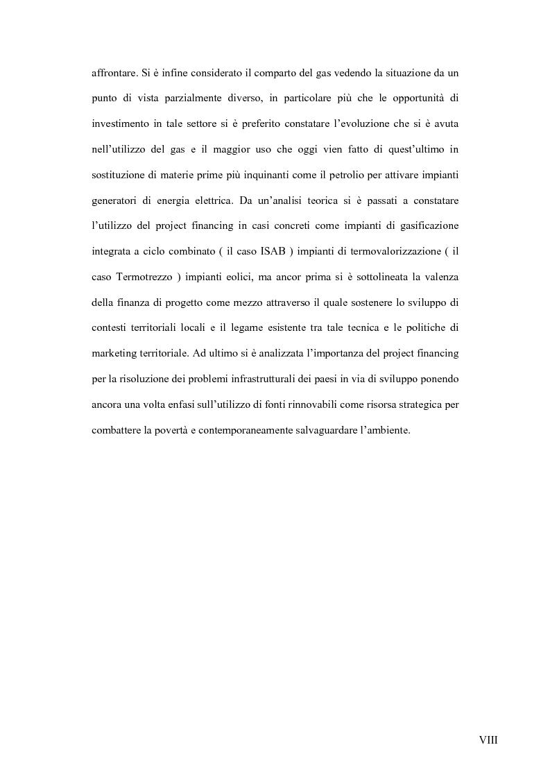 Anteprima della tesi: Il project financing nel settore delle utilities, Pagina 5