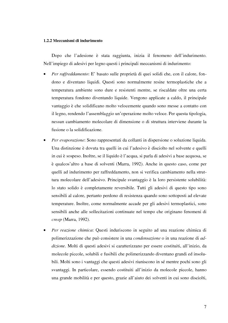Anteprima della tesi: Prove di incollaggio per legno lamellare di Robinia Pseudoacacia L. destinato all'impiego in ambiente esterno, Pagina 7