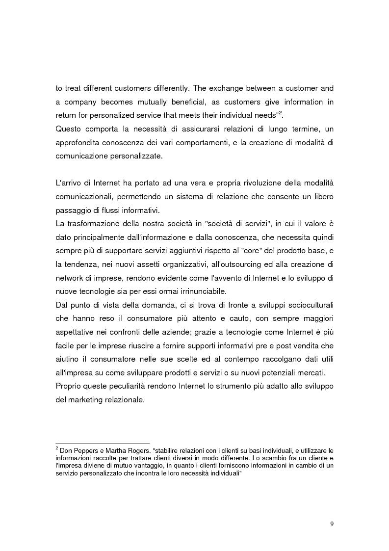 Anteprima della tesi: Il marketing relazionale nel settore turistico, Pagina 7