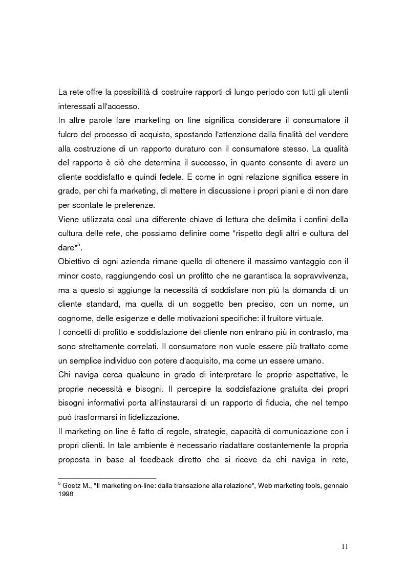 Anteprima della tesi: Il marketing relazionale nel settore turistico, Pagina 9