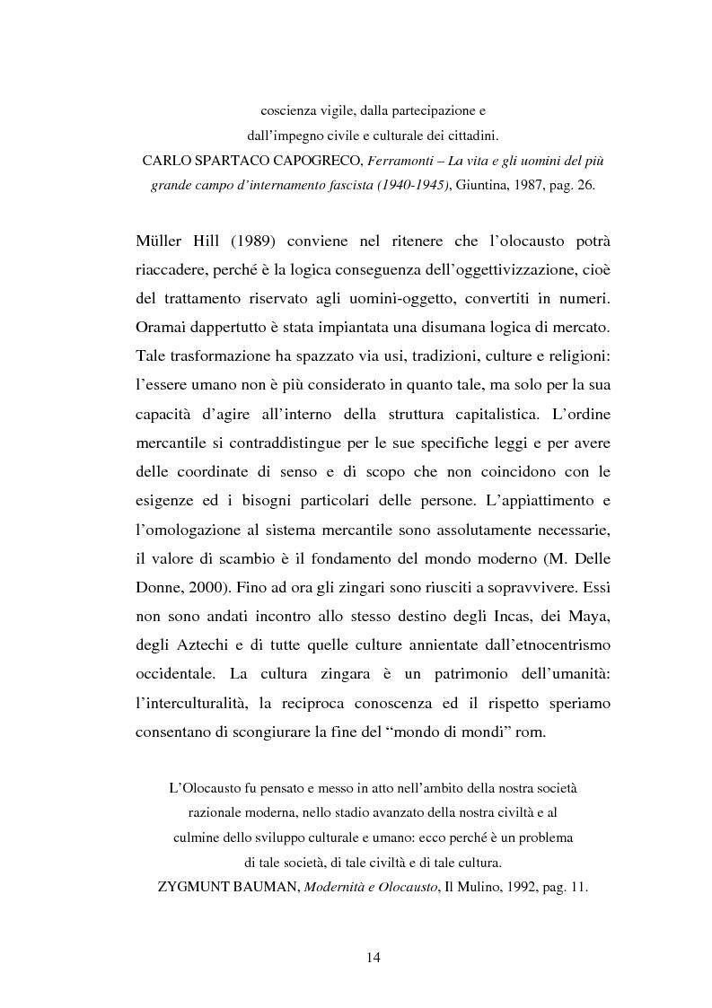 Anteprima della tesi: Un genocidio rimosso: il porrajmos zingaro, Pagina 12