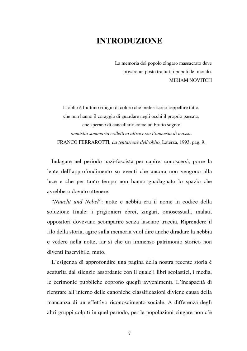 Anteprima della tesi: Un genocidio rimosso: il porrajmos zingaro, Pagina 5