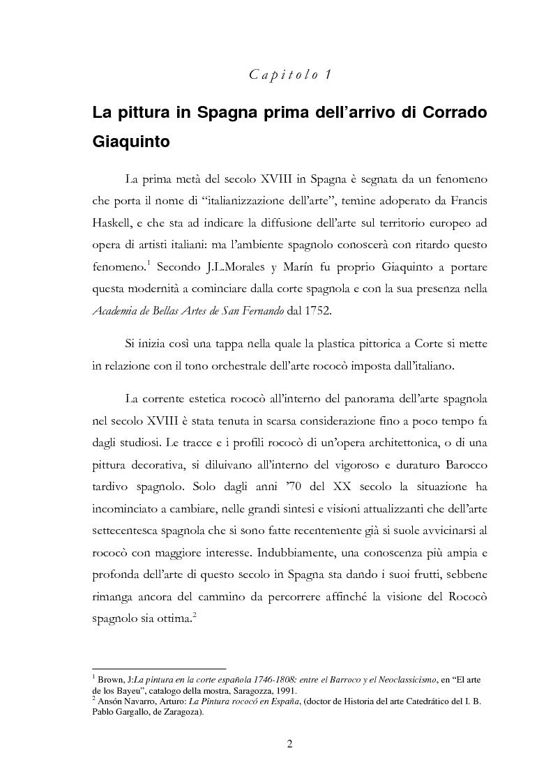 Anteprima della tesi: L'influsso di Corrado Giaquinto sulla pittura spagnola del XVIII secolo, Pagina 2