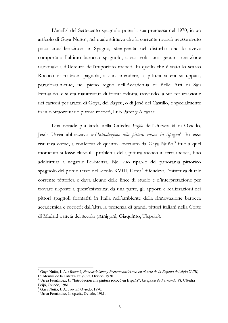 Anteprima della tesi: L'influsso di Corrado Giaquinto sulla pittura spagnola del XVIII secolo, Pagina 3