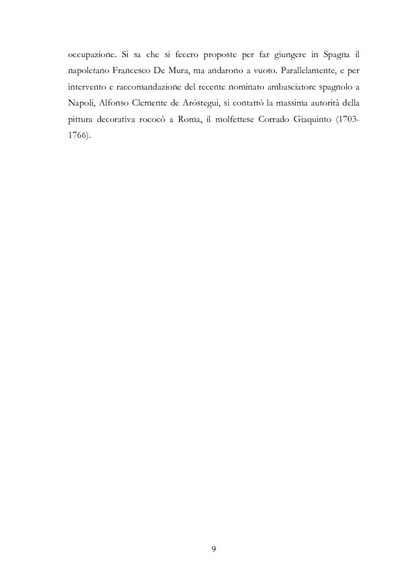Anteprima della tesi: L'influsso di Corrado Giaquinto sulla pittura spagnola del XVIII secolo, Pagina 9