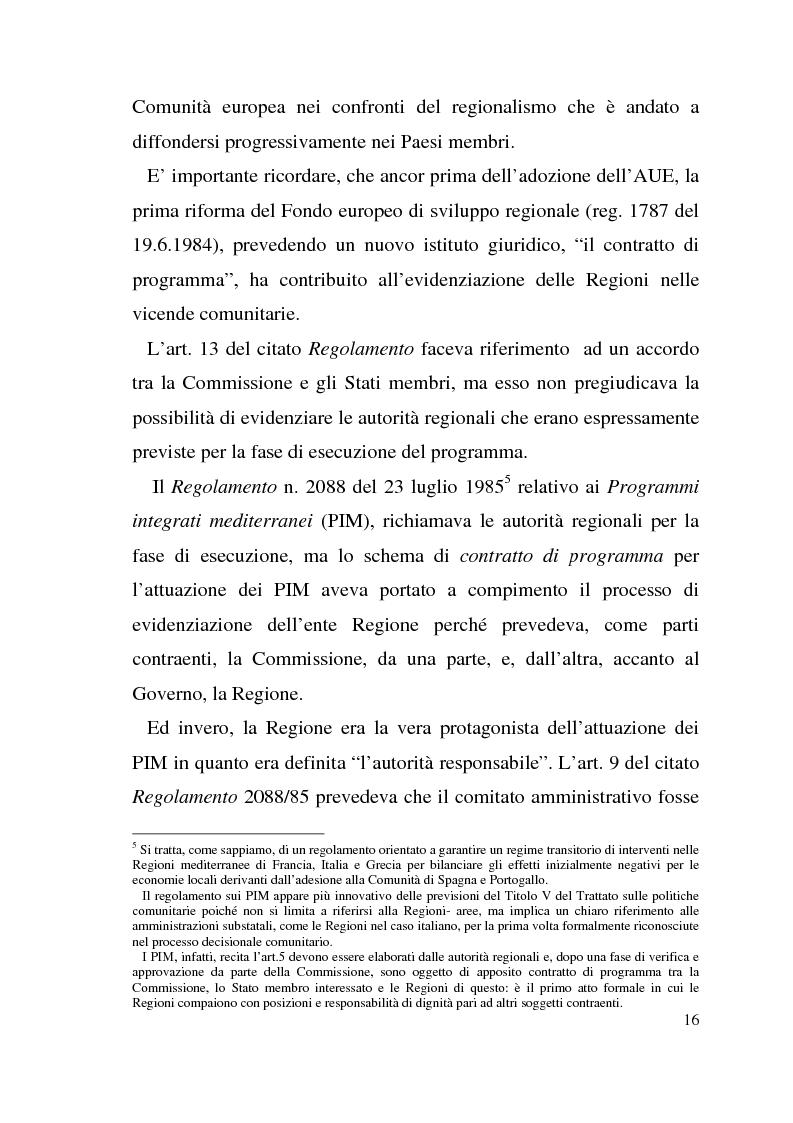 Anteprima della tesi: Diritto dell'Unione Europea: il ruolo delle Regioni nell'ambito comunitario, Pagina 12