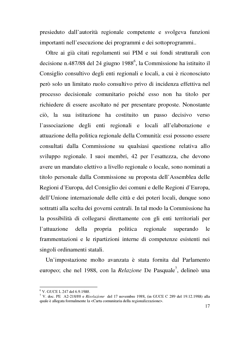 Anteprima della tesi: Diritto dell'Unione Europea: il ruolo delle Regioni nell'ambito comunitario, Pagina 13