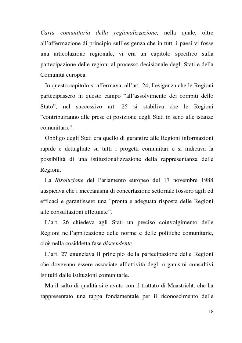 Anteprima della tesi: Diritto dell'Unione Europea: il ruolo delle Regioni nell'ambito comunitario, Pagina 14
