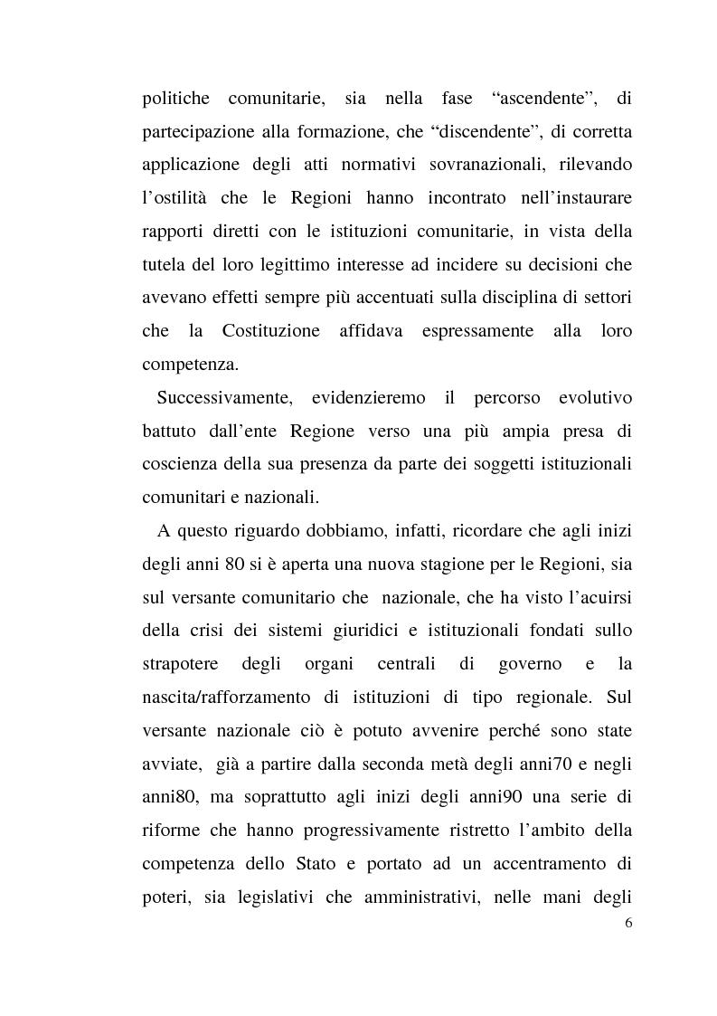 Anteprima della tesi: Diritto dell'Unione Europea: il ruolo delle Regioni nell'ambito comunitario, Pagina 2