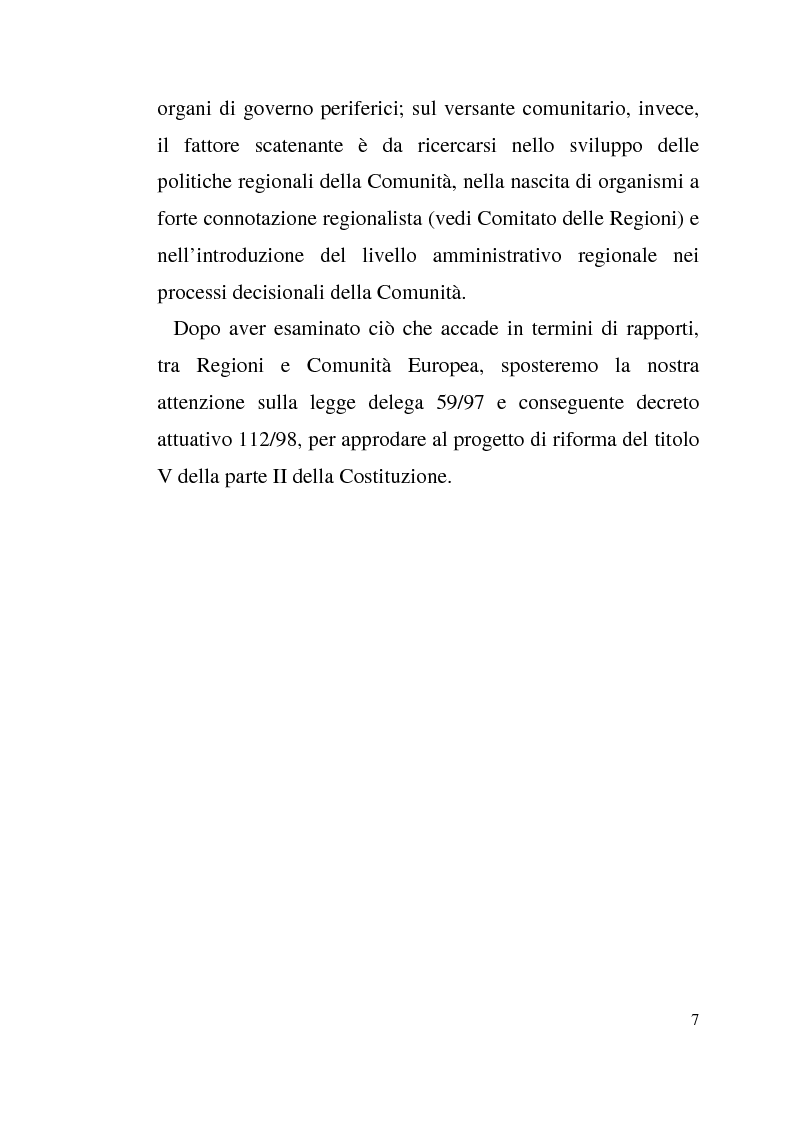 Anteprima della tesi: Diritto dell'Unione Europea: il ruolo delle Regioni nell'ambito comunitario, Pagina 3