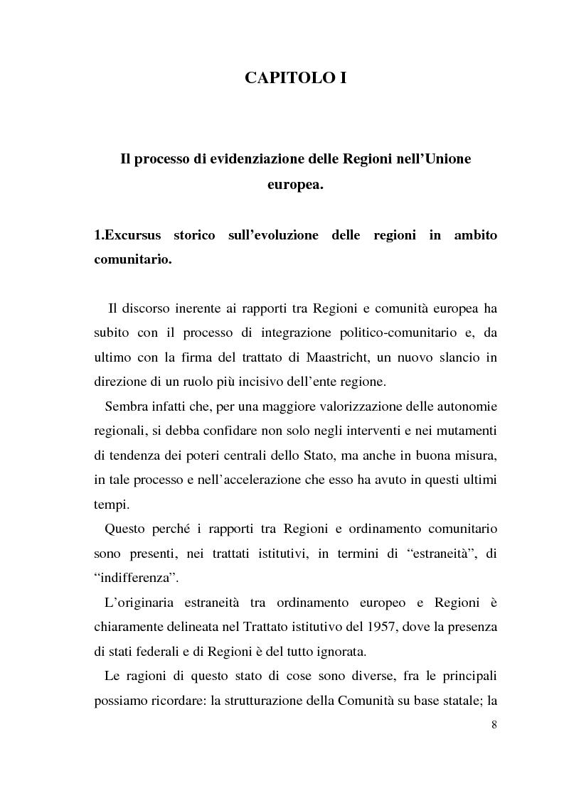 Anteprima della tesi: Diritto dell'Unione Europea: il ruolo delle Regioni nell'ambito comunitario, Pagina 4