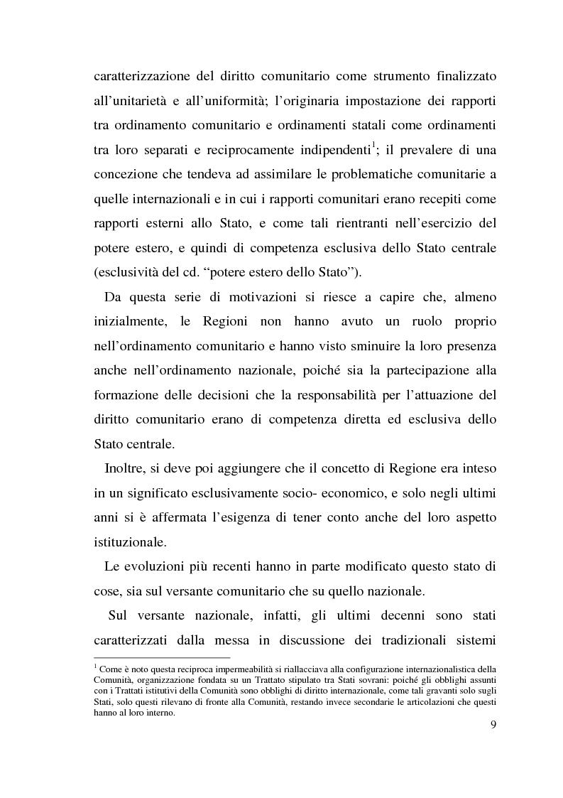 Anteprima della tesi: Diritto dell'Unione Europea: il ruolo delle Regioni nell'ambito comunitario, Pagina 5