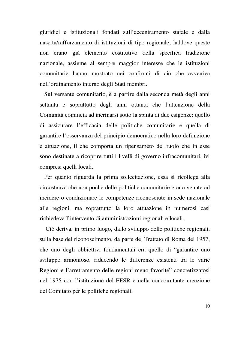 Anteprima della tesi: Diritto dell'Unione Europea: il ruolo delle Regioni nell'ambito comunitario, Pagina 6
