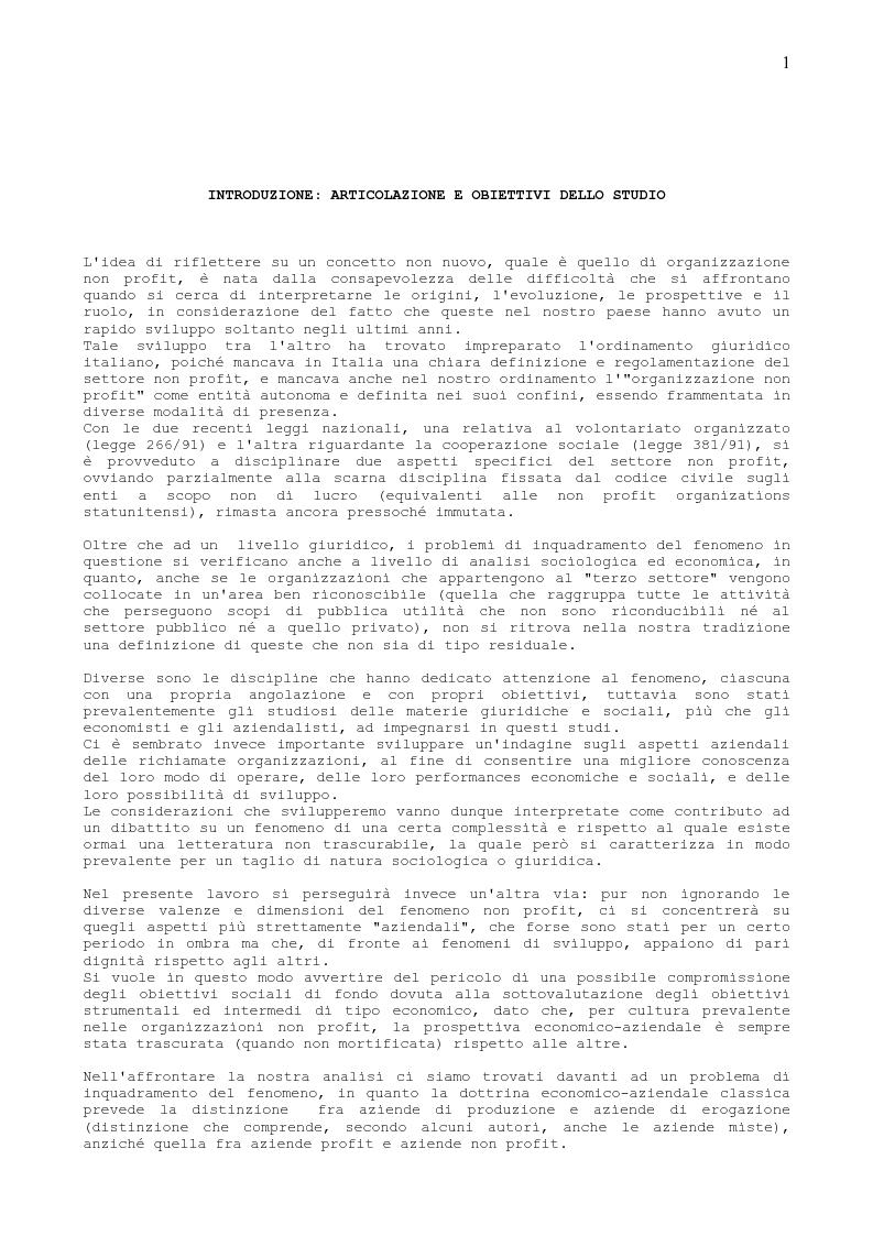 Anteprima della tesi: Il Sistema Informativo delle aziende ad Alto Contenuto Etico, Pagina 1