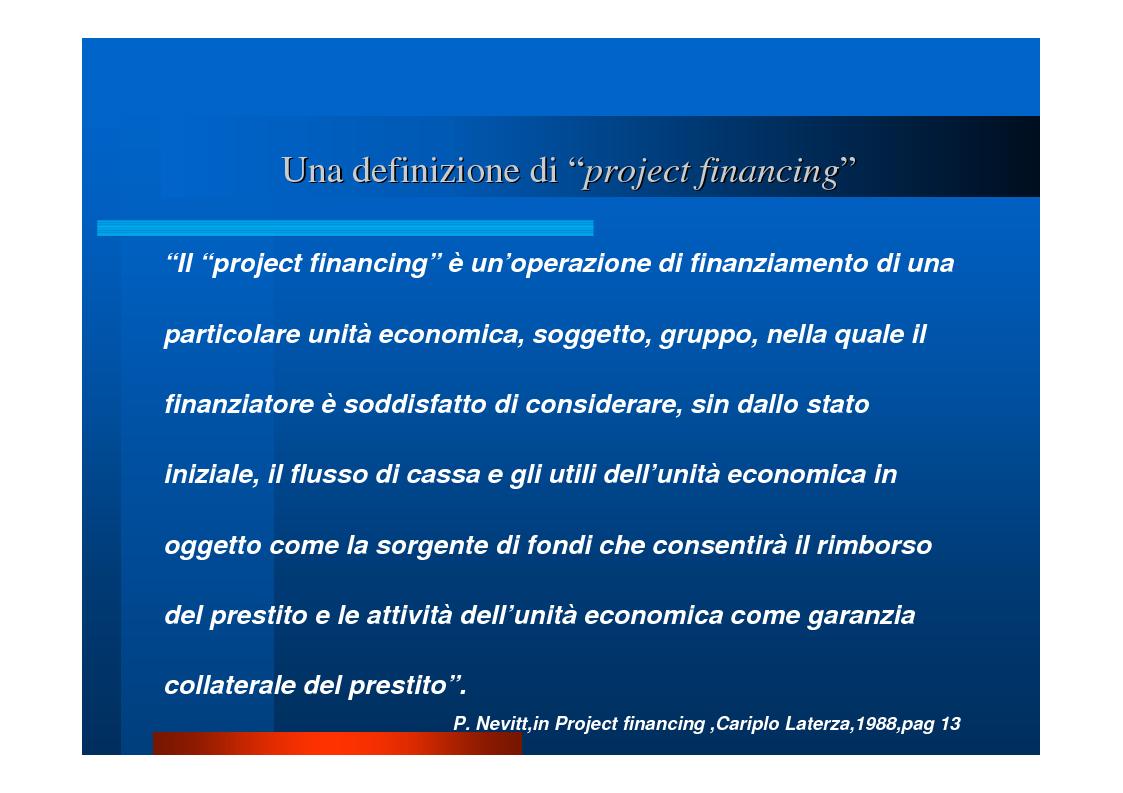 """Anteprima della tesi: Il """"project financing"""": quadro normativo, analisi della situazione in Campania, valutazione propositiva, Pagina 2"""