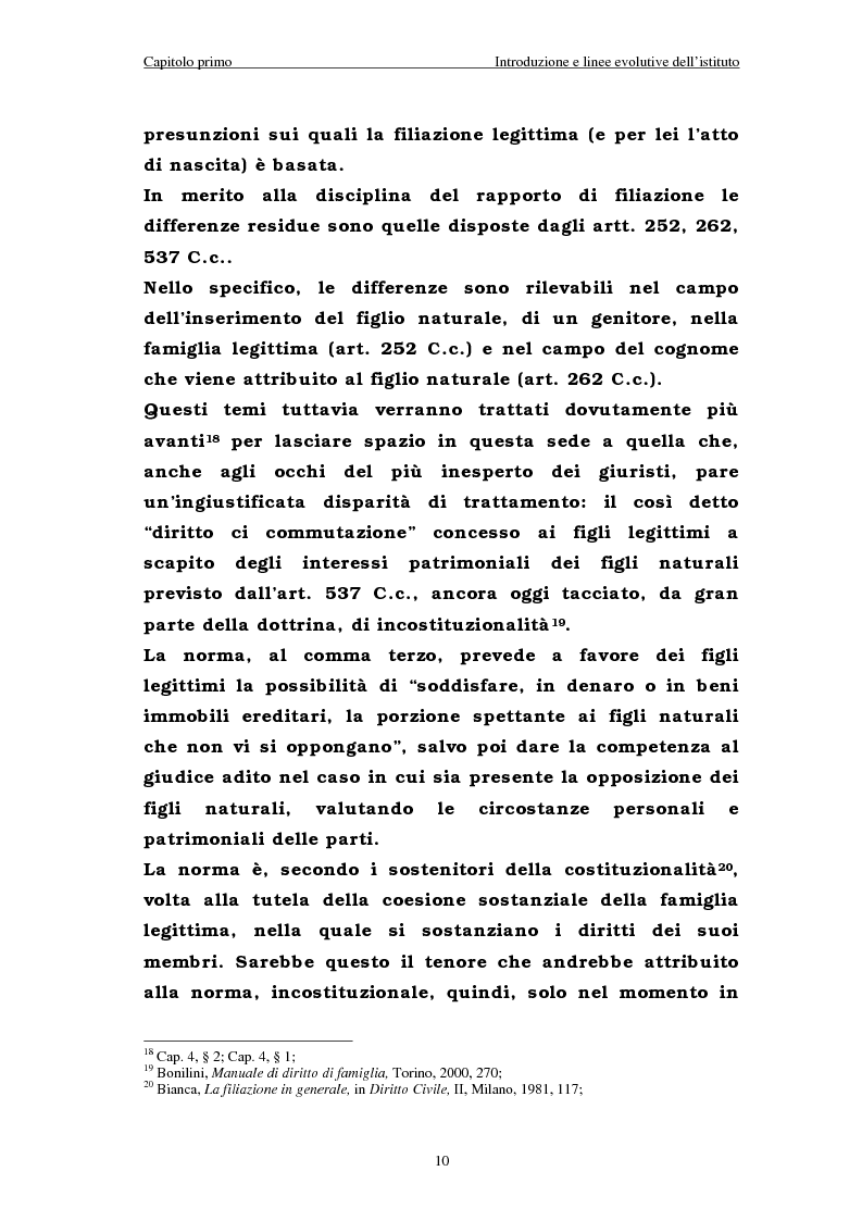 Anteprima della tesi: Il riconoscimento del figlio naturale, Pagina 10