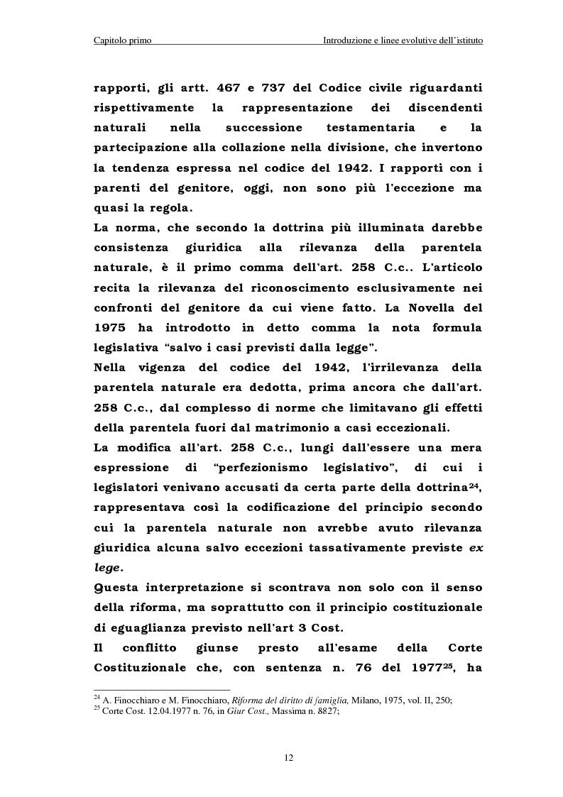 Anteprima della tesi: Il riconoscimento del figlio naturale, Pagina 12