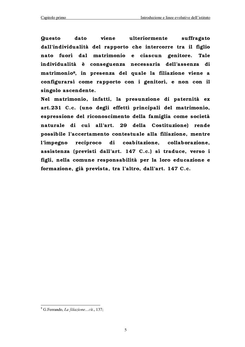 Anteprima della tesi: Il riconoscimento del figlio naturale, Pagina 5