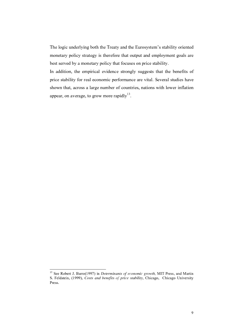 Anteprima della tesi: Is the Bank of England Inflation Targeting the way to reform the ECB monetary policy?, Pagina 10