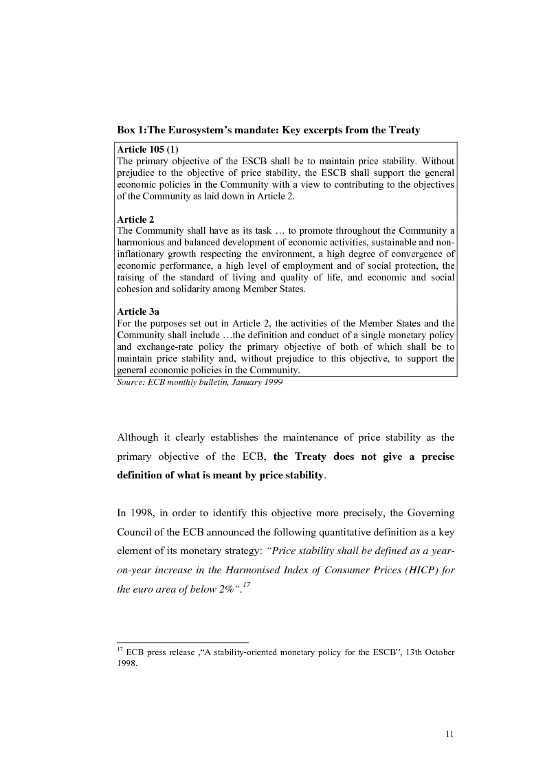 Anteprima della tesi: Is the Bank of England Inflation Targeting the way to reform the ECB monetary policy?, Pagina 12