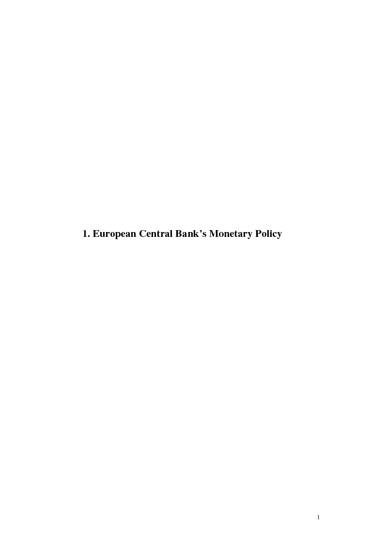 Anteprima della tesi: Is the Bank of England Inflation Targeting the way to reform the ECB monetary policy?, Pagina 2