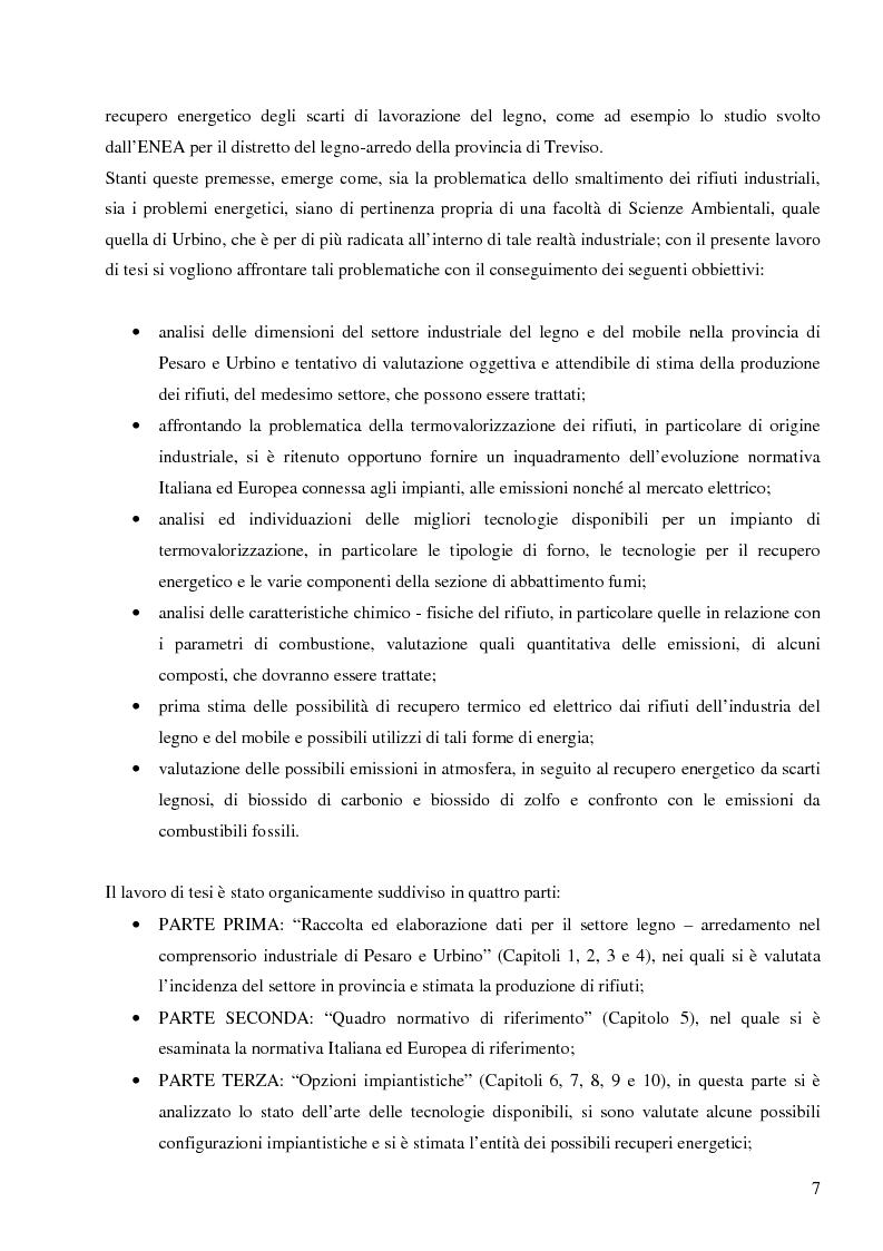 Anteprima della tesi: Opzioni per il recupero energetico dei rifiuti del settore legno arredamento nel comprensorio industriale Pesaro Urbino, Pagina 2