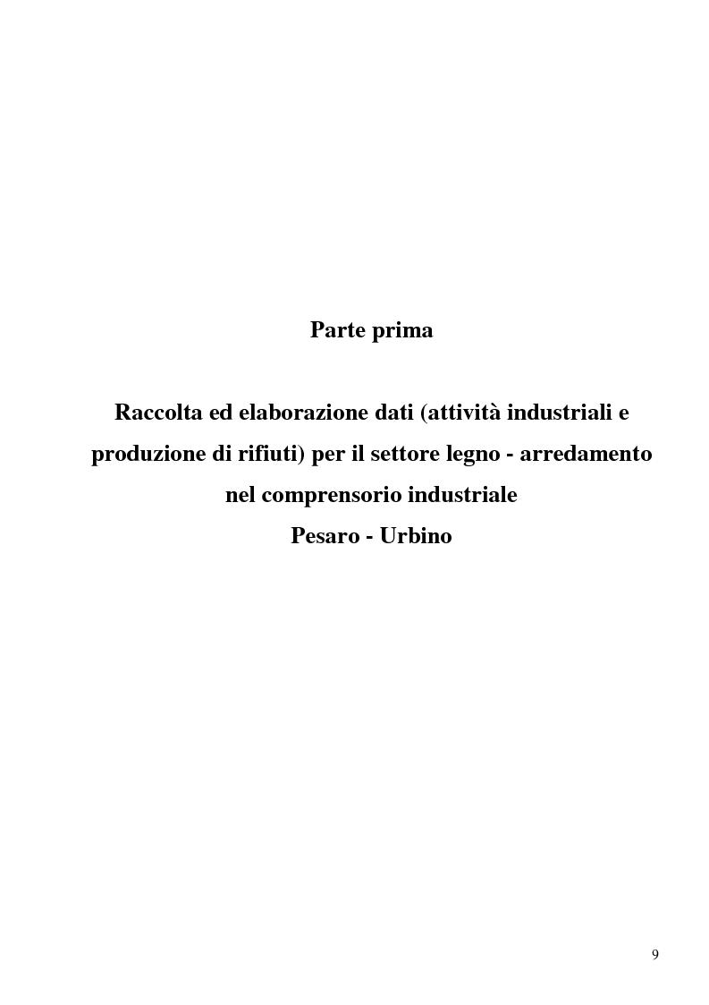 Anteprima della tesi: Opzioni per il recupero energetico dei rifiuti del settore legno arredamento nel comprensorio industriale Pesaro Urbino, Pagina 4