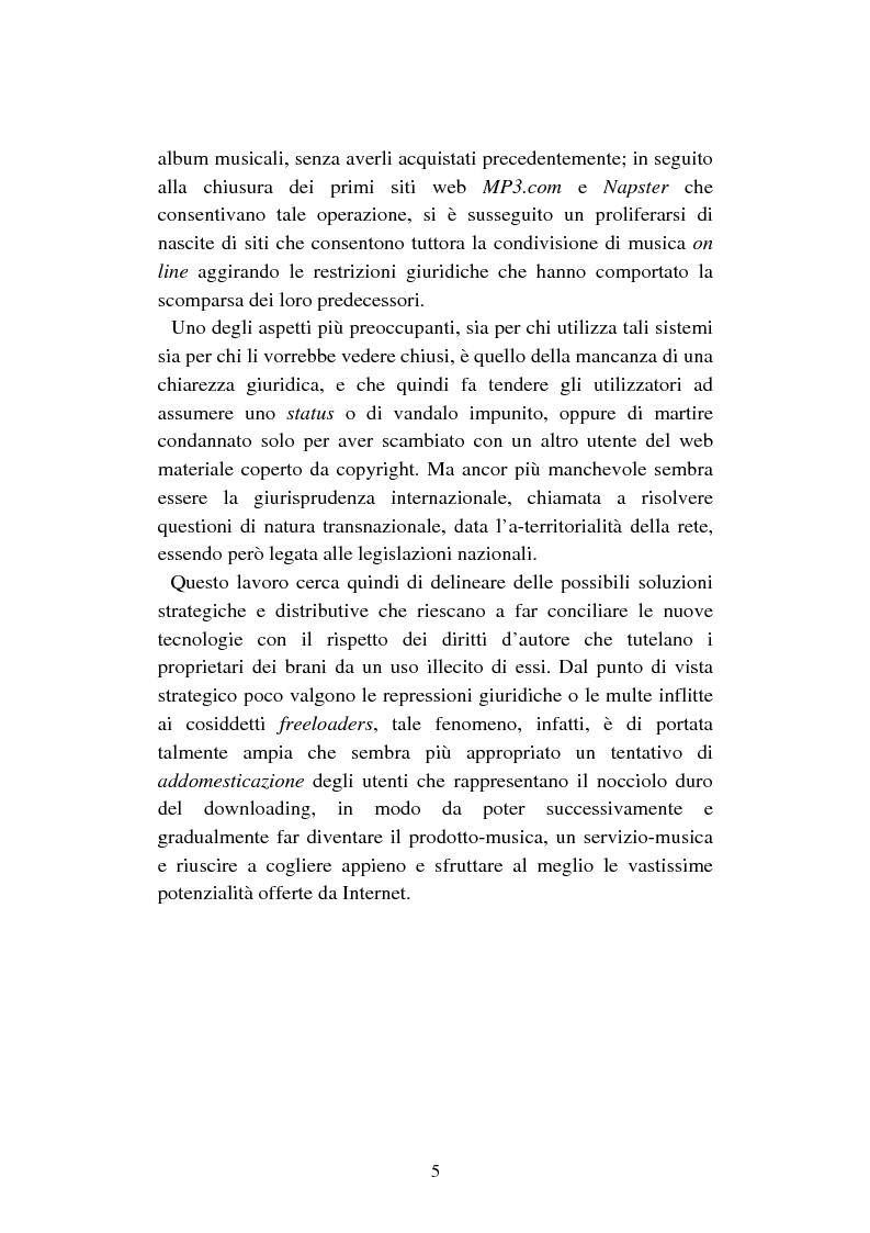 Anteprima della tesi: Mercato discografico e Internet: risposte strategiche degli operatori del settore, Pagina 2