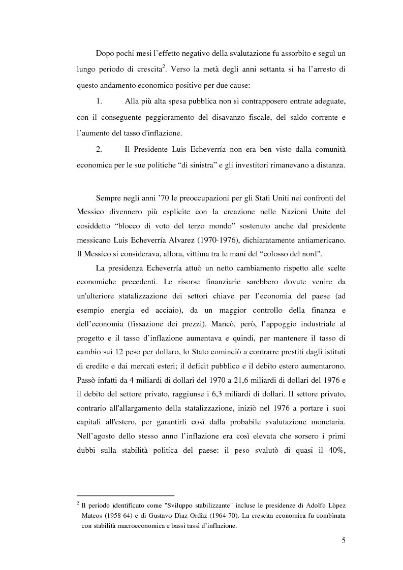 Anteprima della tesi: Il crollo del peso messicano e cenni sulla crisi asiatica, Pagina 14