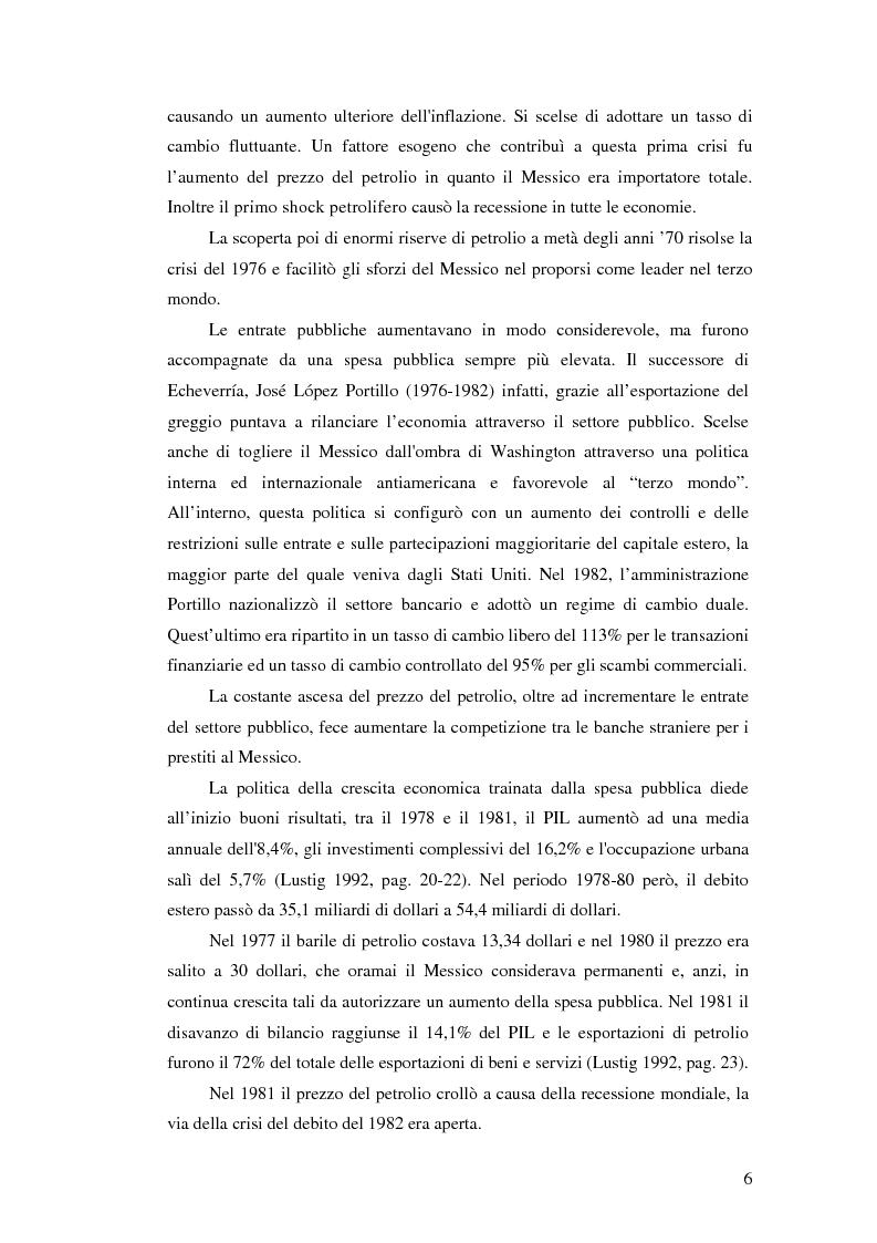 Anteprima della tesi: Il crollo del peso messicano e cenni sulla crisi asiatica, Pagina 15