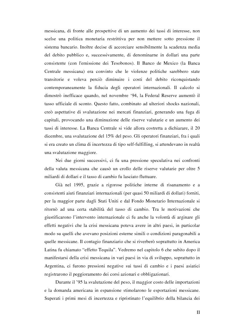 Anteprima della tesi: Il crollo del peso messicano e cenni sulla crisi asiatica, Pagina 2