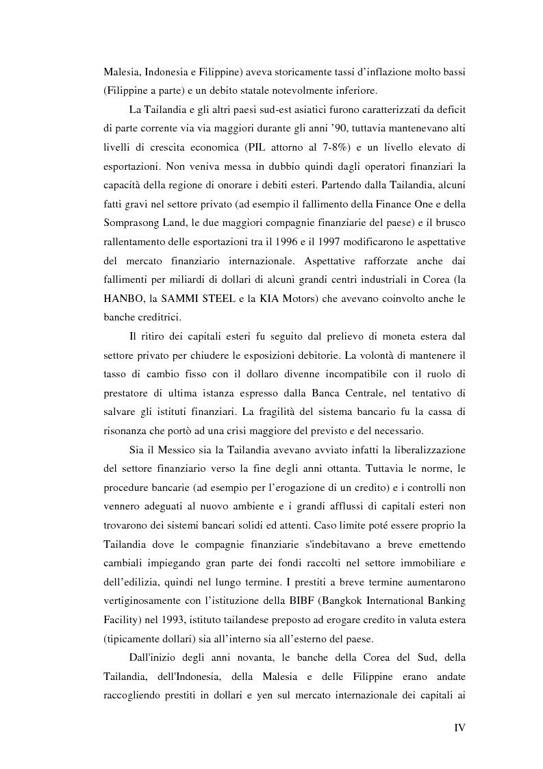 Anteprima della tesi: Il crollo del peso messicano e cenni sulla crisi asiatica, Pagina 4