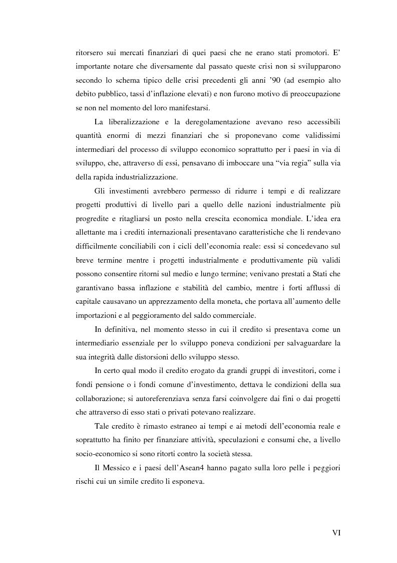 Anteprima della tesi: Il crollo del peso messicano e cenni sulla crisi asiatica, Pagina 6